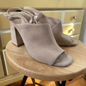 Beige suede Top-Shop heels